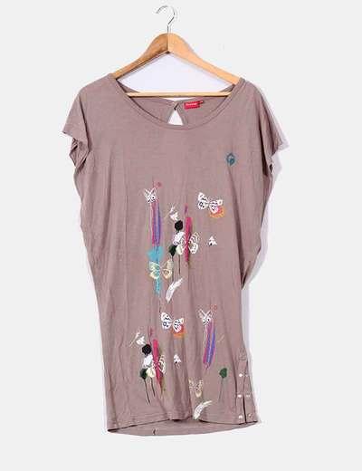 T-shirt camel imprimé papillons Firetrap