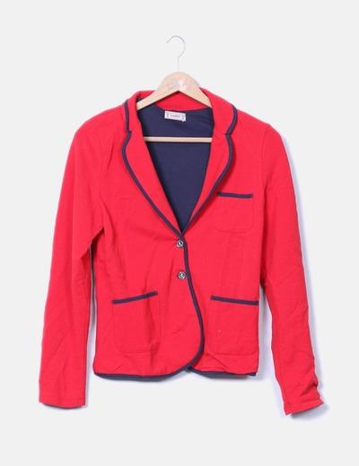Blazer roja texturizada Pull&Bear