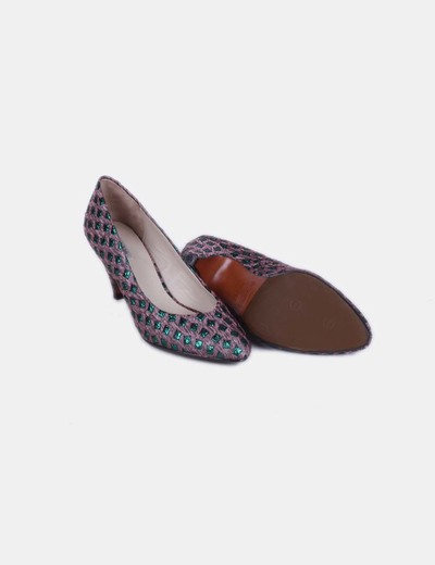 Zapatos kitten heels glitter