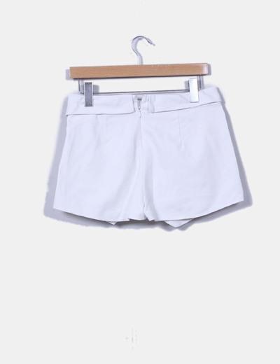 Falda pantalon blanco