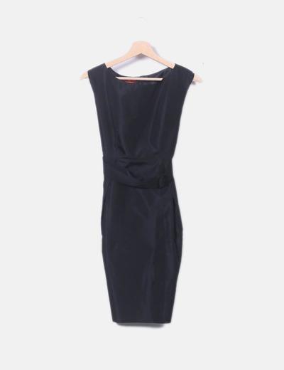 a347181ab48e Caramelo Robe noire de satin droit (réduction 76%) - Micolet