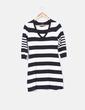 Vestido tricot de rayas blancas y negras H&M