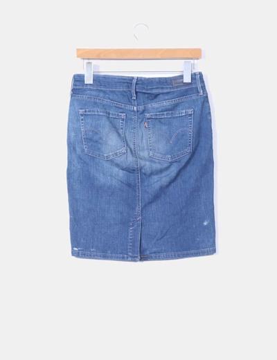 Mini falda denim ajustada