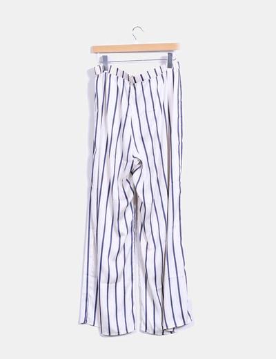 Pantalon recto de rayas