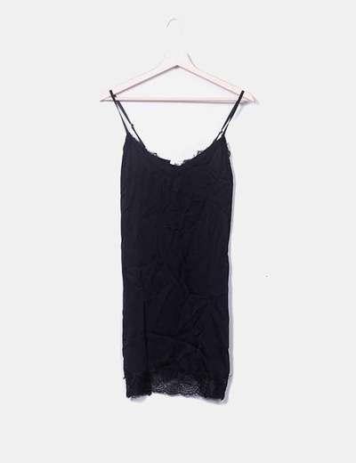 Vestido negro lencero LUA