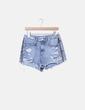 Shorts denim print animal Zara