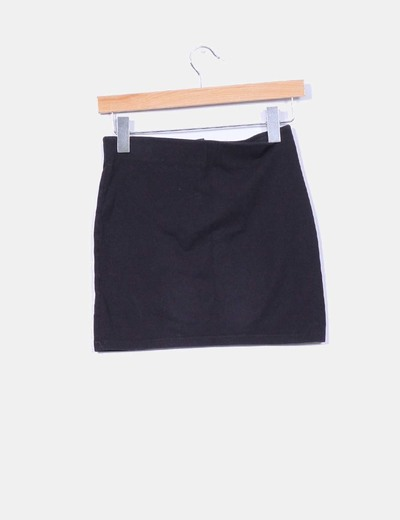 Mini falda elastica negra