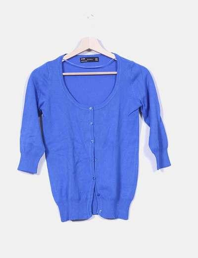Chaqueta tricot azul klein Zara