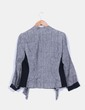 Blazer gris de lino corte asimétrico  Zara