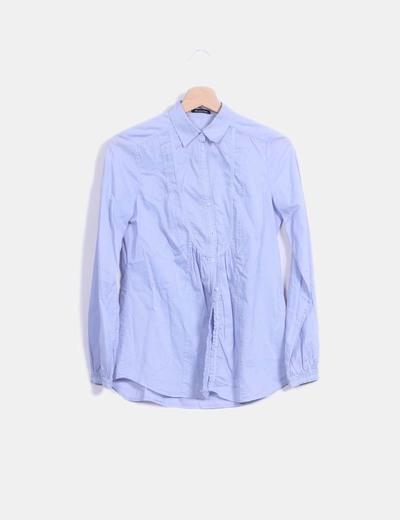 Blusa azul manga larga Massimo Dutti