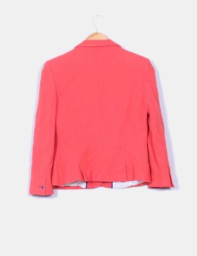 blazer color coral zara