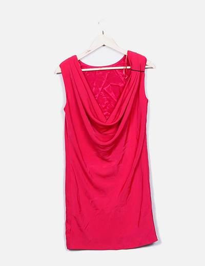 Vestido rosa escote espalda