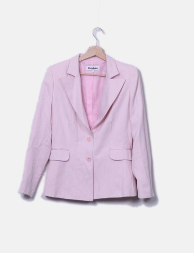Blazer rosa texturizada
