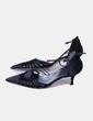 Zapato negro con tiras Ángel Alarcón