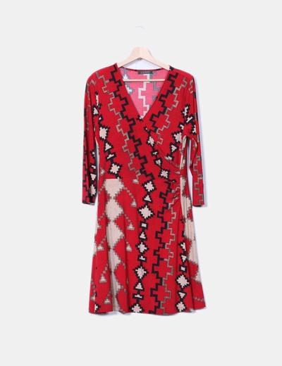 Vestido rojo estampado Ralph Lauren