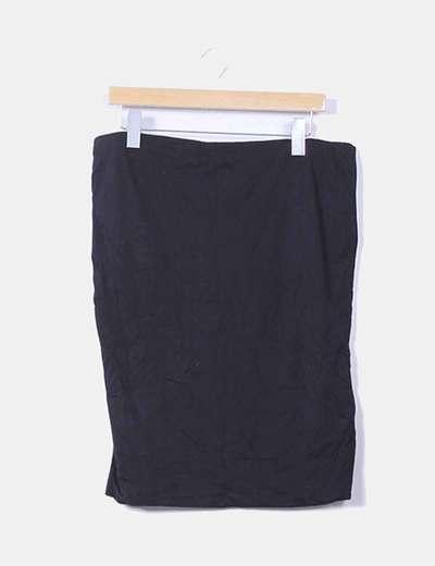 Falda midi básica negra H&M