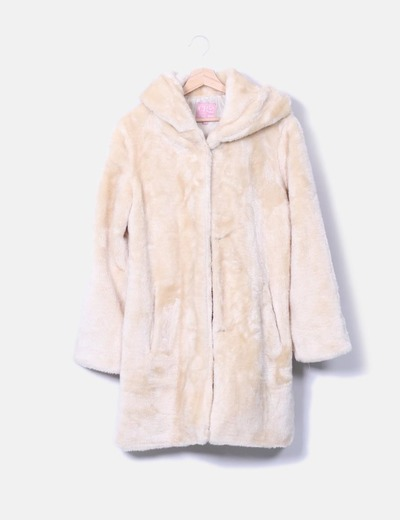 Abrigo de pelo blanco Venca