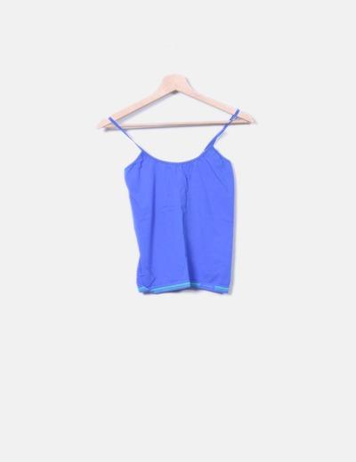 Camiseta azul de tirantes Unno