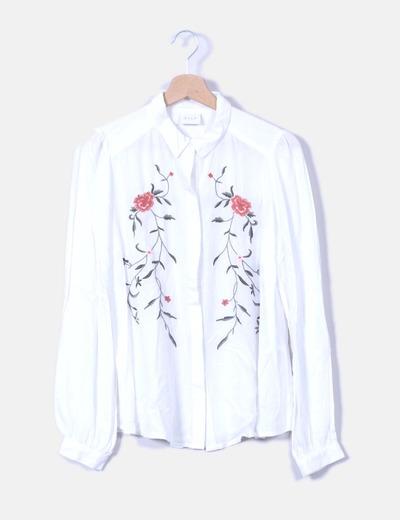 Camisa blanca bordada VILA