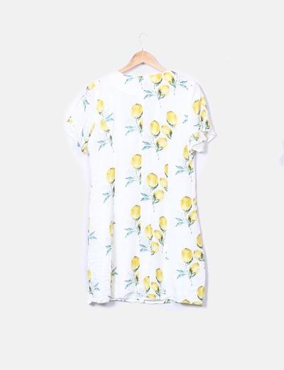 Vestido estampado print limones