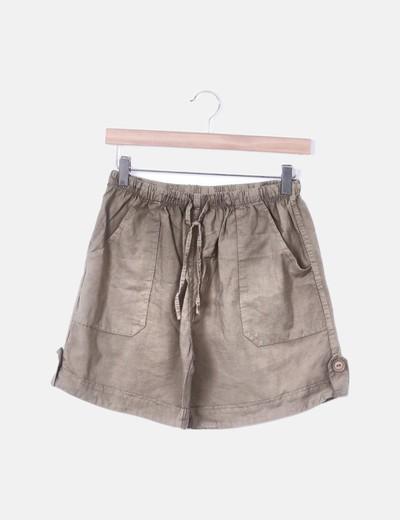 Short marrón con elástico