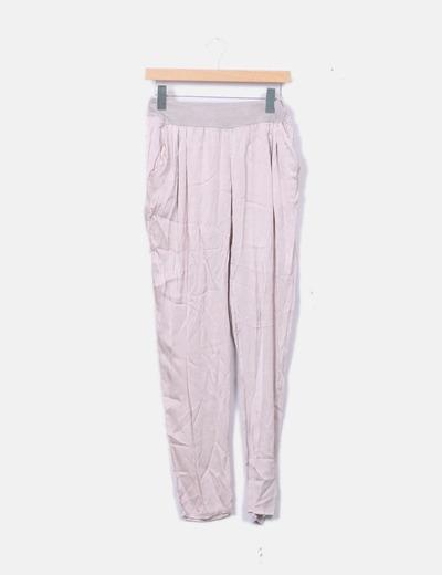 4c5ca4e0619b NoName Pantalon rose en satin (réduction 73%) - Micolet