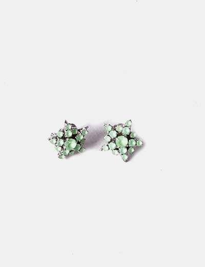 Pierres boucles d'oreilles vert radá