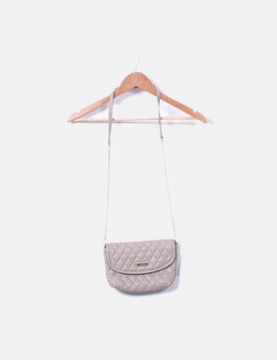 Bolso mini taupé con cadena