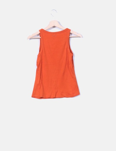Camiseta básica color teja