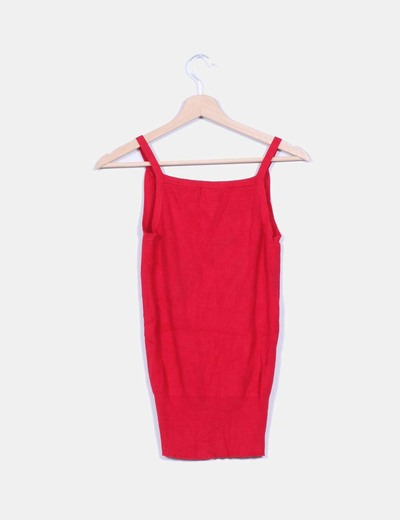 Top tricot canale rojo