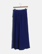 Falda azul satinada Bershka