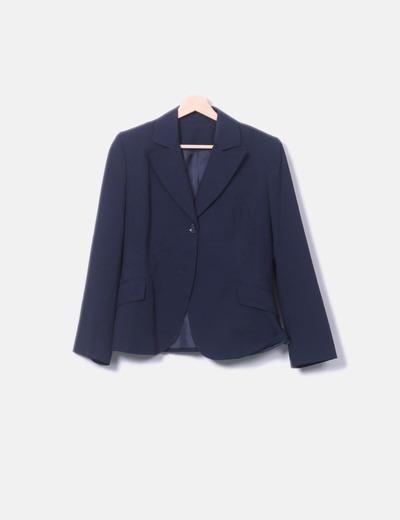 Conjunto de falda y blazer azul marino