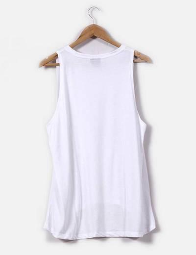 Camiseta blanca sin mangas oversize