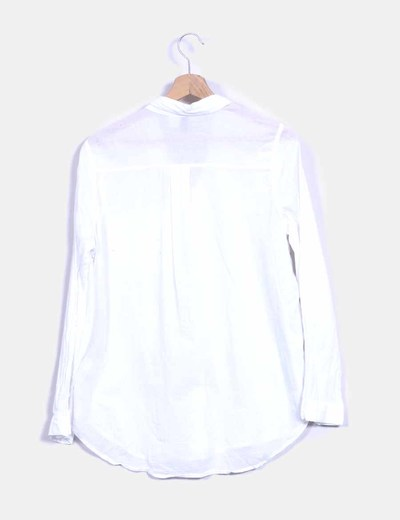 Camisa lino blanco manga larga