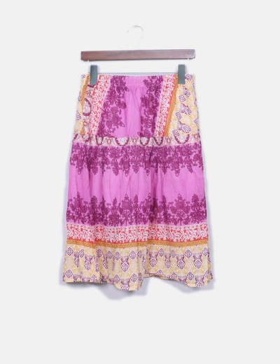 Falda midi estampada NoName