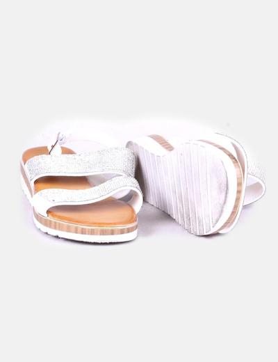 Sandalias blanca glitter