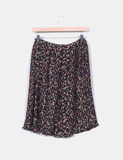 Falda plisada estampado floral