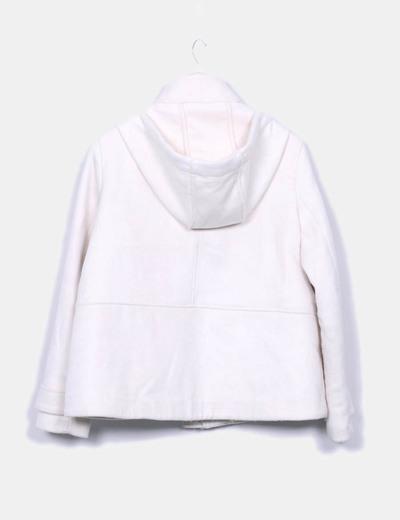 Abrigo pano beige con capucha