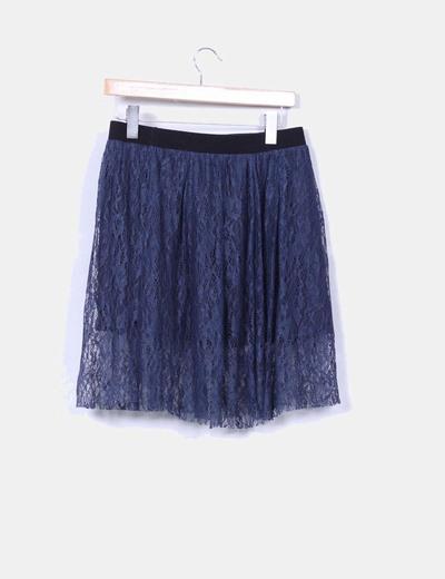 Falda de encaje