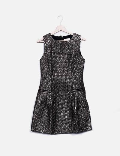 Vestido glitter texturizado Elisaimmagine