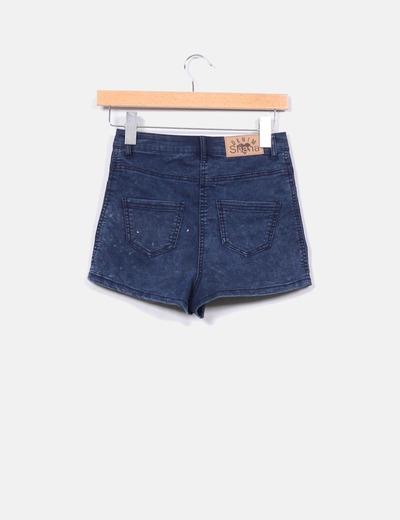 Shorts denim entallados