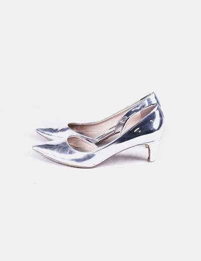 Zapato plateado con tacón French Connection