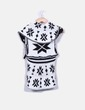Chaleco lana blanco y negro NoName
