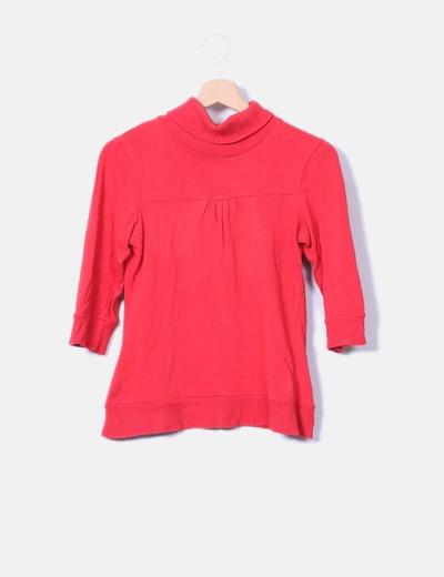 Camiseta cuello vuelto Zara
