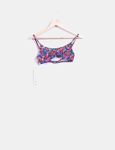 Parte superior bikini floral candy pop MINKPINK