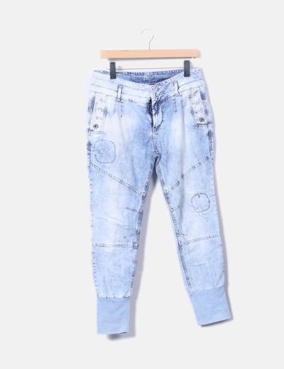 Pantalon denim baggy efecto desgastado Pull&Bear