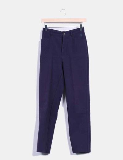 Pantalón azul marino de vestir Thomas Burberry