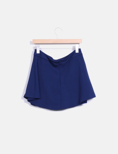 Falda azul marino texturizada