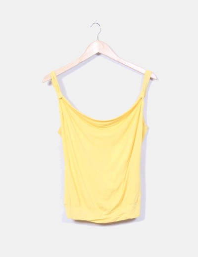 Top amarillo escote trasero Suiteblanco