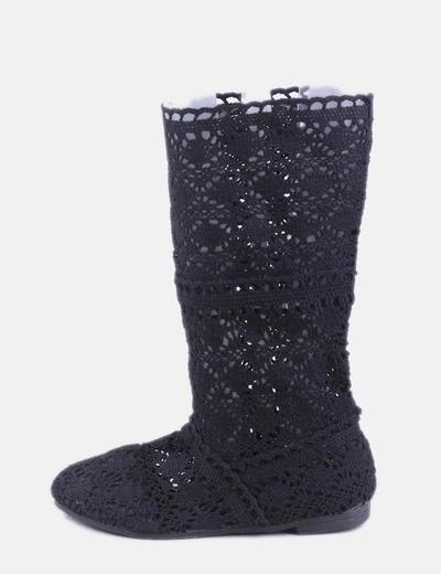 Bota crochet negro